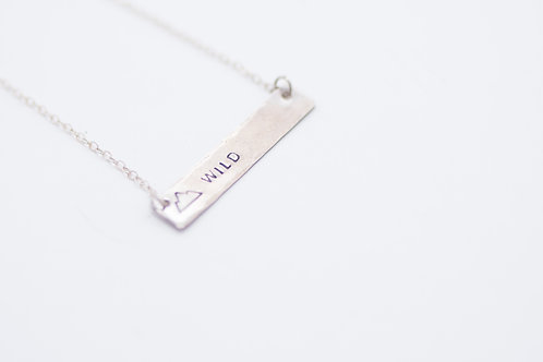 Amara Blue - Sterling Silver 'Wild' Necklace