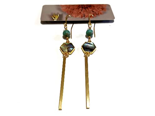 Cat D.esigns - Abalone Elegant Dangle Earrings
