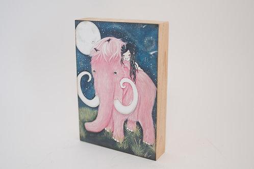 The Poppy Tree - Pink Mammoth Print on Wood