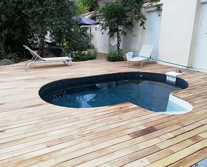 plage de piscine terrasse bois bayonne
