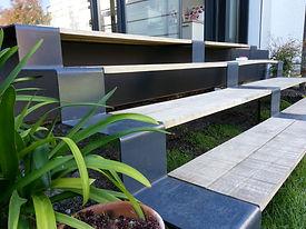 escalier jardin acier metal jardin landais