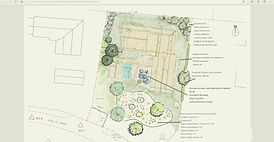plan de jardin, projet jardin, dessin jardin, plantation jardin, paysagiste hossegor
