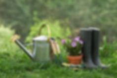bigstock-Gardening-Tools-And-Plants-In--