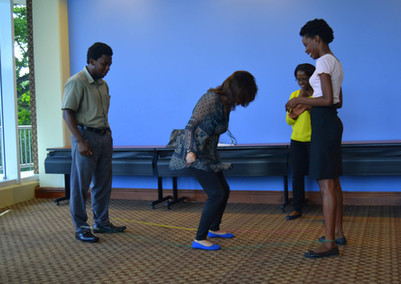 Teaching games from my childhood. Jamaica, 2016.