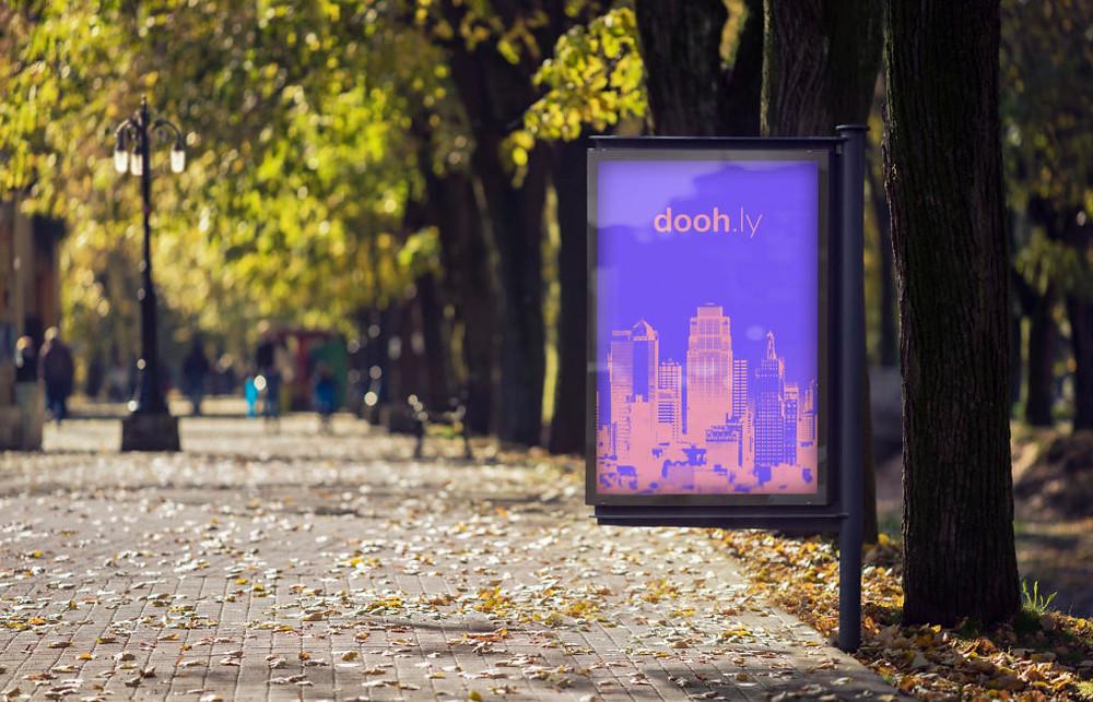Doohly digital signage in park