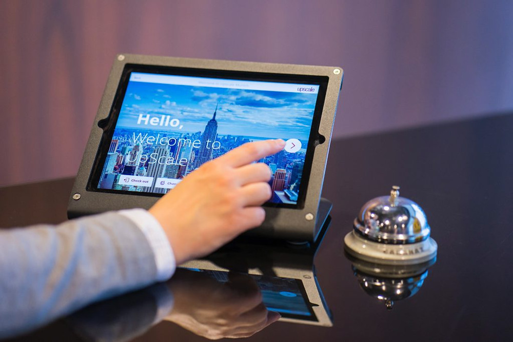 Tablet as digital signage example