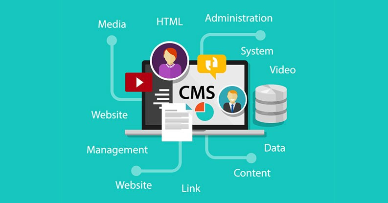 Illustration of a CMS