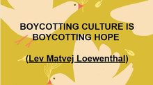 Please, do not support the cultural boycott of Israel