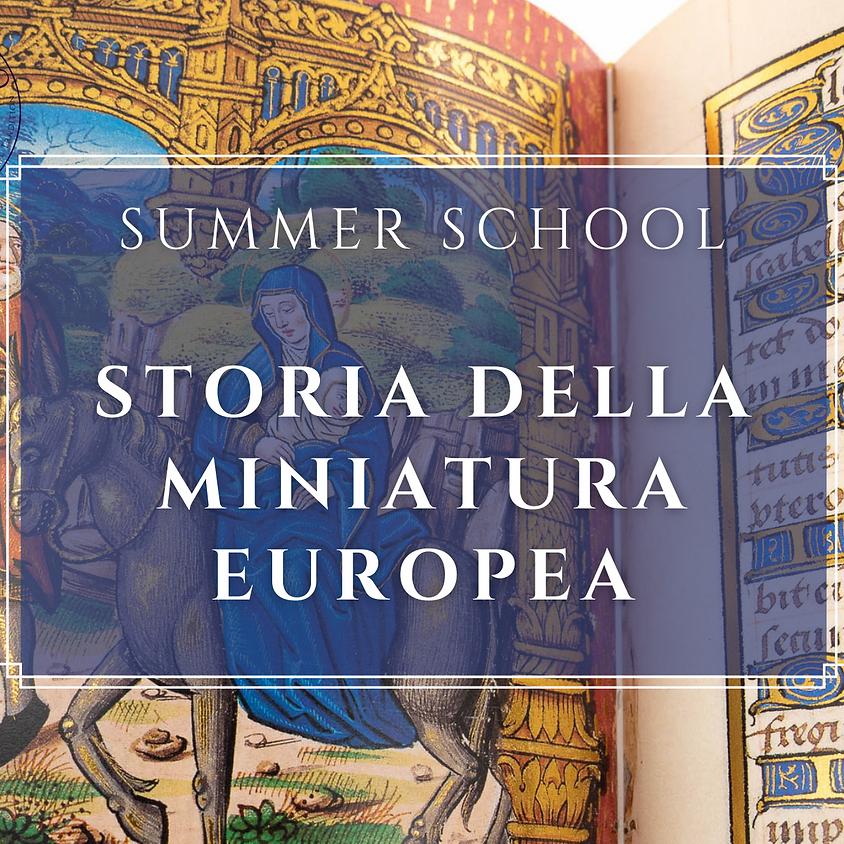 """Corso online """"STORIA DELLA MINIATURA EUROPEA"""""""