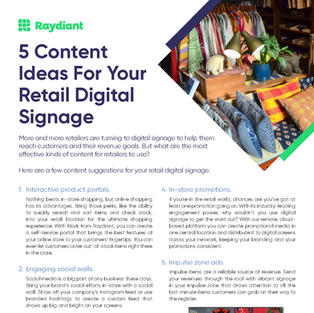 5 Content Ideas for Retail Digital Signage