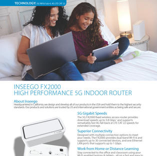 5G Indoor Router FX2000