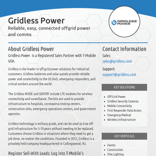Gridless Power Overview