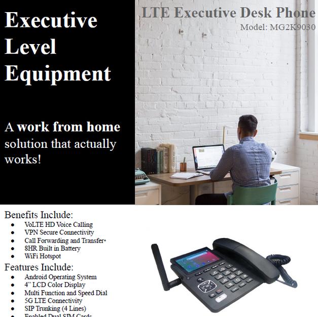 LTE Executive Desk Phone