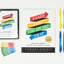 I SAID THIS YOU HEARD THAT WORKBOOK + DVD + NEEDS CARDS + COLOR PENS ON WHITE BACKGROUND
