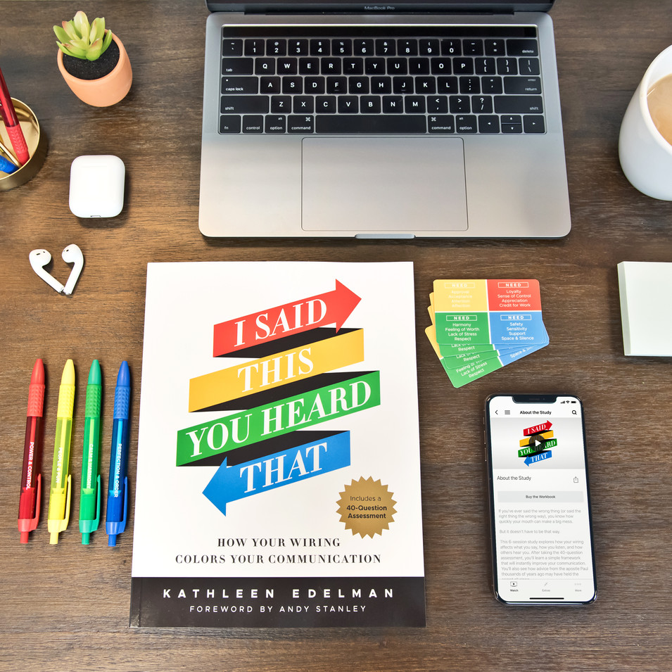 I SAID THIS YOU HEARD THAT WORKBOOK + DVD + NEEDS CARDS + COLOR PENS + APP LIFESTYLE SETTING