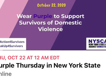 💜 Wear Purple Oct. 22 💜