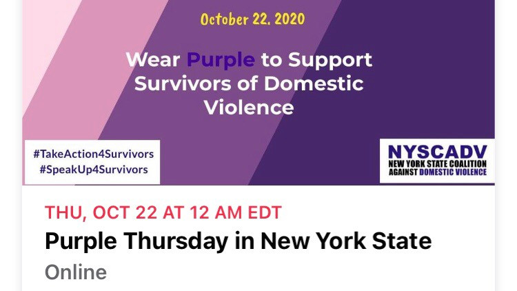 Wear 💜 Purple Today Oct 22nd 💜 wherever you are. 💜
