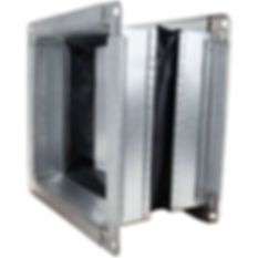 squared flexible duct connector