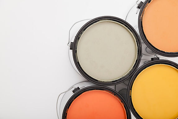 paint cans used by handyman or professional painters
