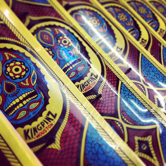 Skateboard Graphics For Kingpinz Skateshop Houston - Mobsolete