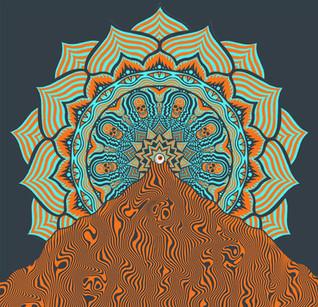 Mandala Scrim Design for White Oak Music