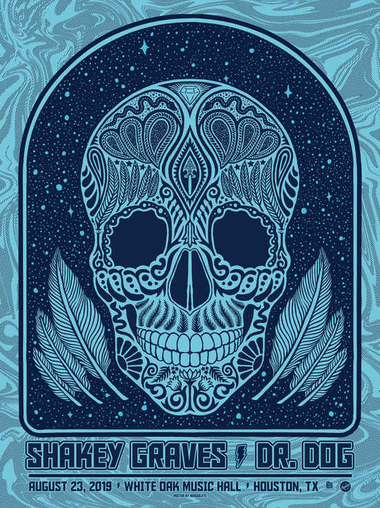 Shakey Graves + Dr. Dog Poster - Mobsolete