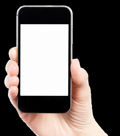 dessin d'un téléphone en main pour décoration