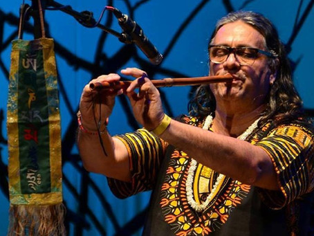 Daniel Namkhay vem a Alto Paraíso apresentar seu trabalho de harmonização através dos sons