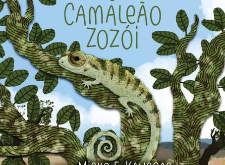 Camaleão Zozói: Livro que aproxima crianças da fauna do Cerrado Brasileiro pede apoio para segunda e
