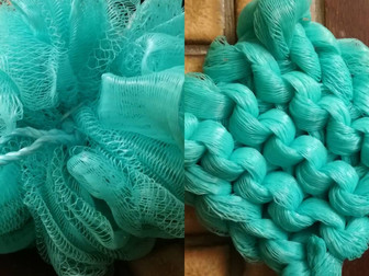 Knit Your Own Scrubber - Upcycled Shower Puff