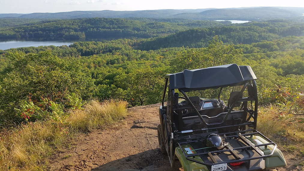 atv at scenic lookout