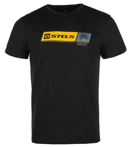 Tričko s krátkým rukávem Stels Adventure-Černé