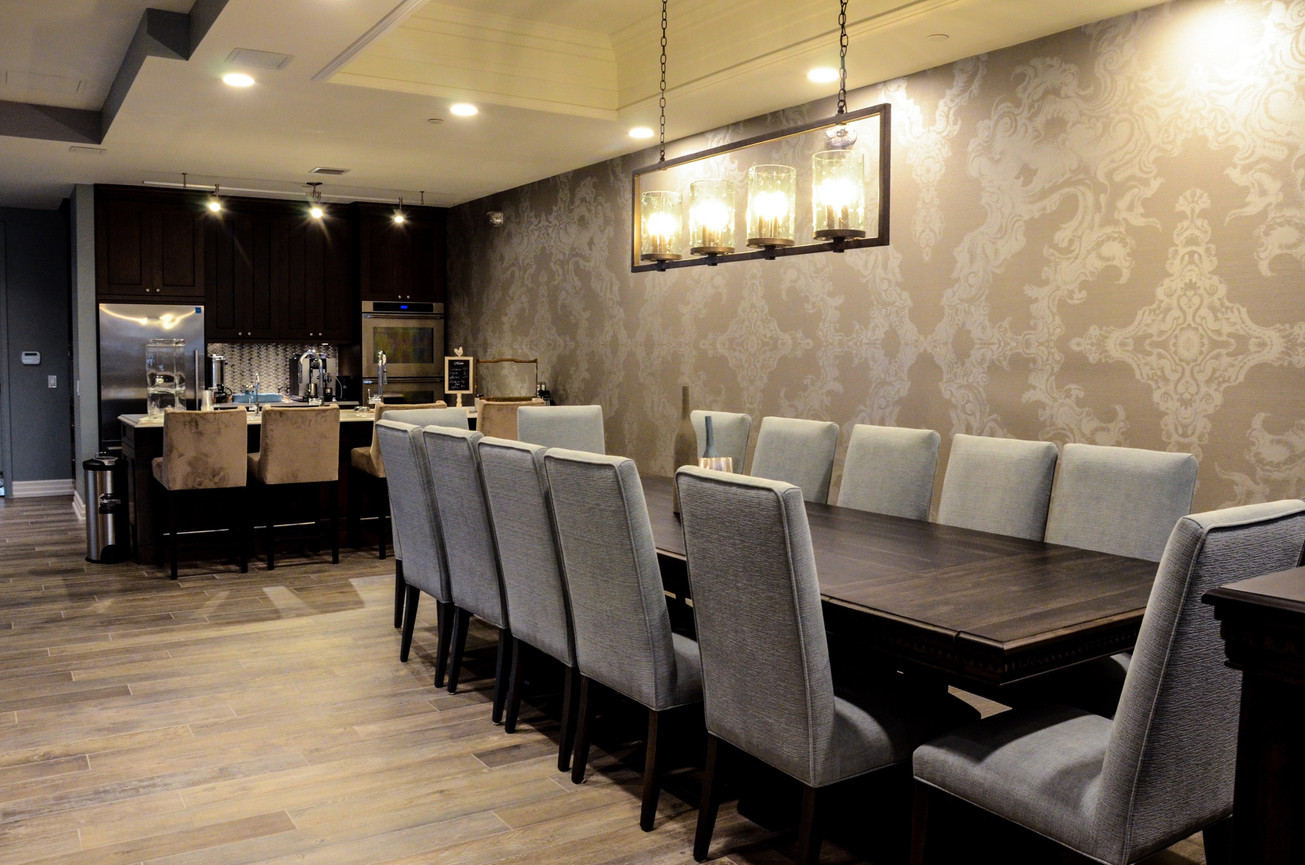Boardroom Table and Kitchen