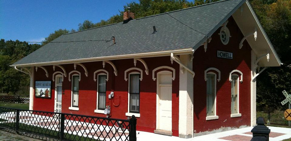 "6"" Half Round Gutter, Howell Historical Train Depot"