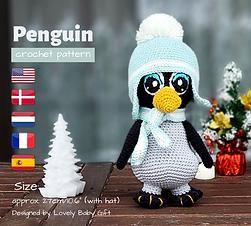 Amigurumi Penguin Crochet Pattern, croch