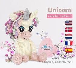 unicorn crochet amigurumi pattern