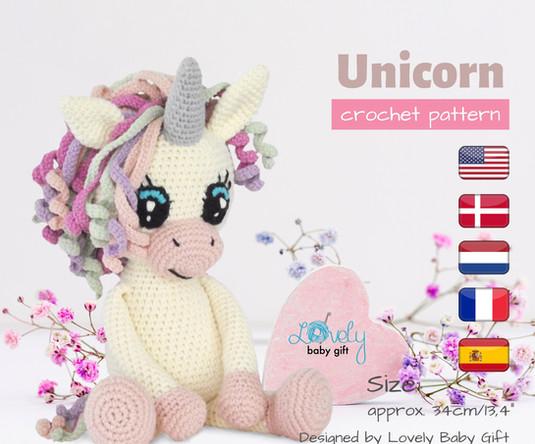 unicorn crochet amigurumi pattern