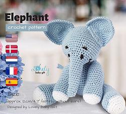 crochet elephant free amigurumi pattern