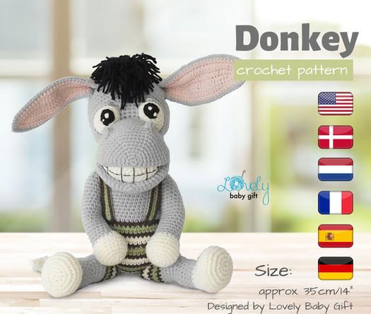 donkey crochet amigurumi pattern