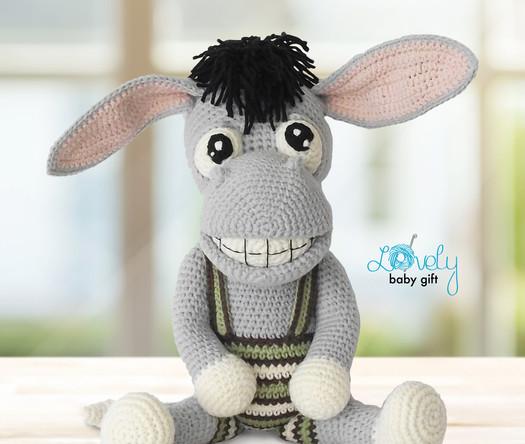 crochet donkey amigurumi pattern