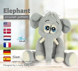 amigurumi elephant pattern crochet