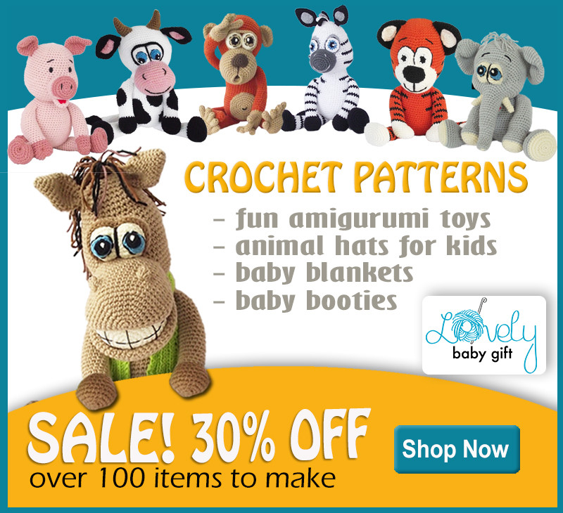 30% offf on all Lovely Baby Gift crochet patterns!