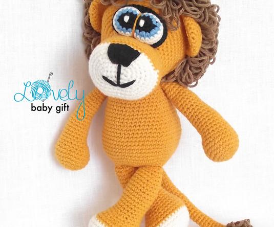 crochet lion amigurumi pattern