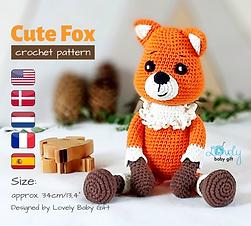crochet fox pattern amigurumi