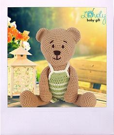 Amigurumi Free Pattern, Teddy Bear with Pants Crochet Pattern