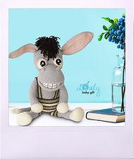 Amigurumi Pattern, Donkey Crochet Pattern, hækle, haakpatroon, häkelanleitung, crochê, haak, hakel