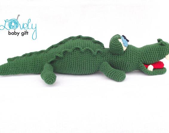 amigurumi crocodile crochet pattern