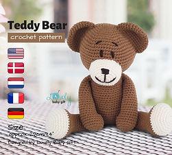crochet toy pattern for beginners Teddy bear