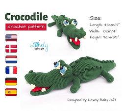 crocodile alligator crochet pattern amig