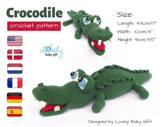 crocodile alligator crochet pattern